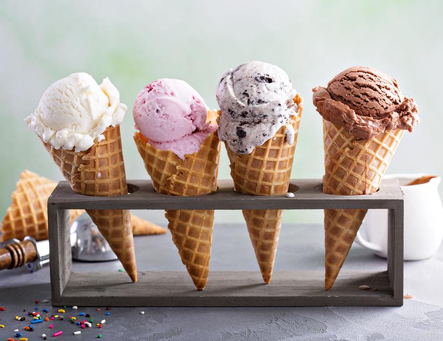 4 Ice Cream Cones